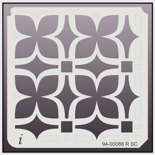 94-00088 R SC Retro Floral Repeat Stencil