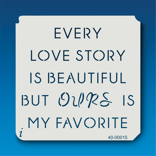 40-00015 Love Story Stencil