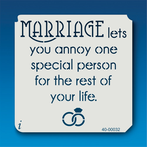 40-00032 Marriage Quote Stencil