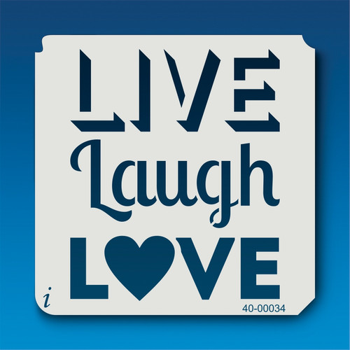 40-00034 Live Laugh Love Stencil