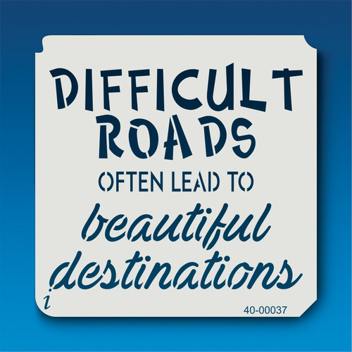 40-00037 Beautiful Destinations Stencil