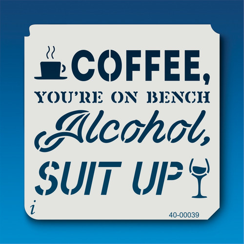 40-00039 Coffee and Alcohol Stencil