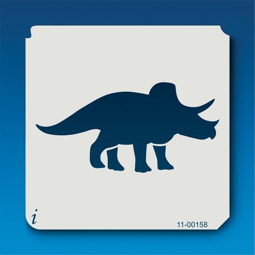 11-00158 Triceratops Silhouette Stencil