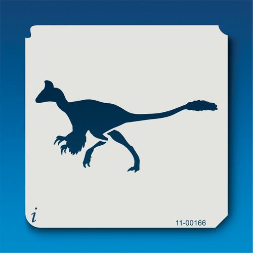 11-00166 Feathered Velociraptor Silhouette Stencil