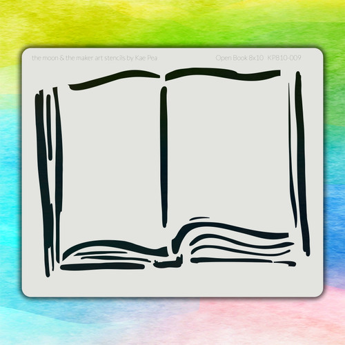 8x10 KP-009 open book stencil