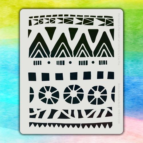 8x10 KP-014 boho backdrop stencil