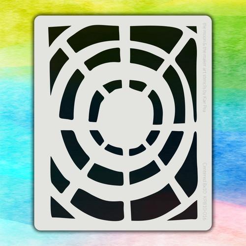8x10 KP-016 centered stencil
