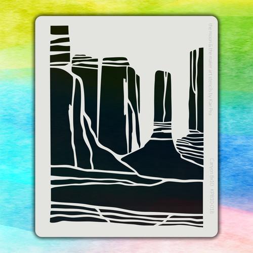 8x10 KP-018 canyon stencil