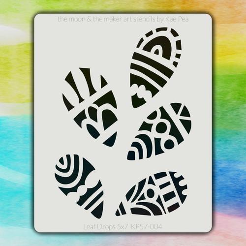 5x7 KP-004 leaf drops stencil