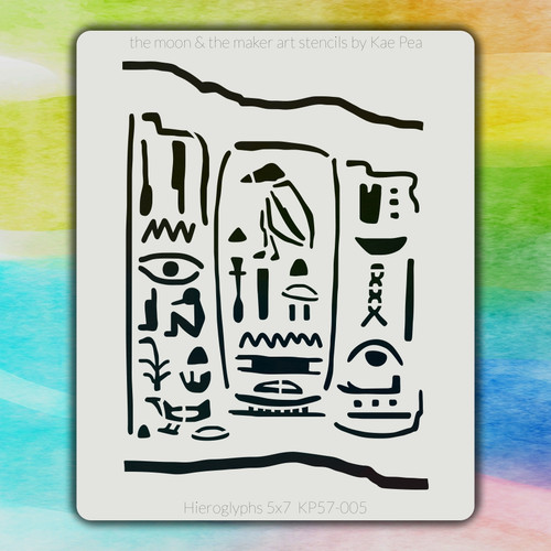 5x7 KP-005 hieroglyphs stencil