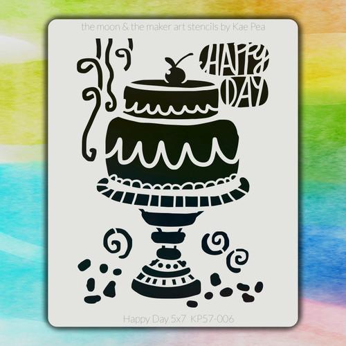 5x7 KP-006 Happy Day stencil