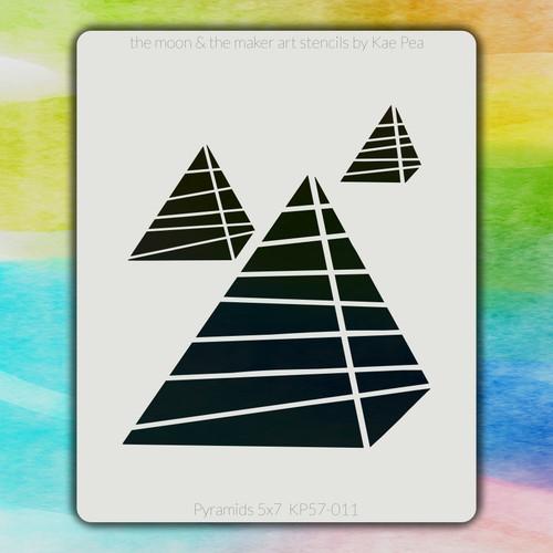 5x7 KP-011 Pyramids stencil