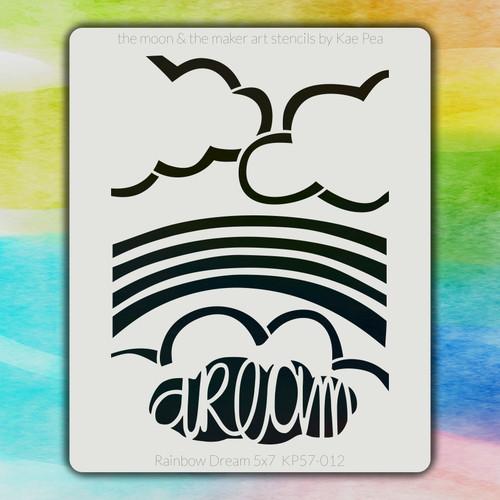 5x7 KP-012 Rainbow Dream stencil