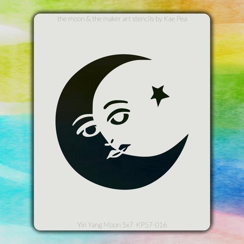 5x7 KP-016 Yin Yang Moon stencil