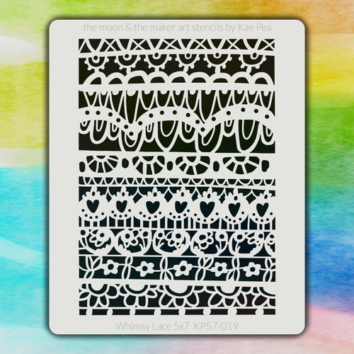 5x7 KP-019 Whimsy Lace stencil