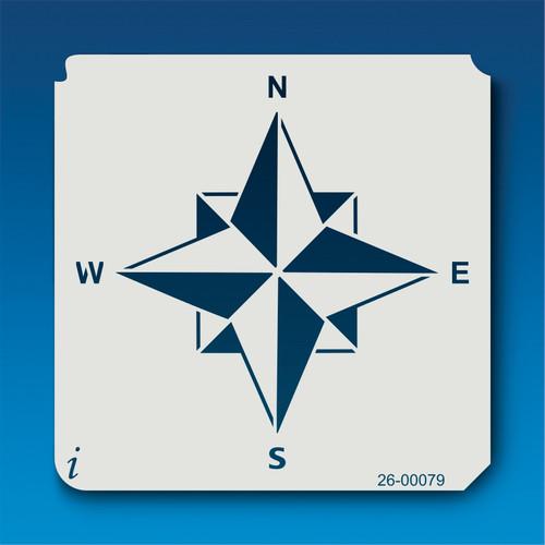 26-00079 Rose Compass Stencil