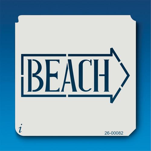 26-00082 Beach Sign Stencil