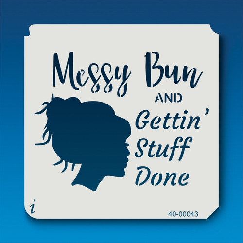 40-00043 Messy Bun Stencil