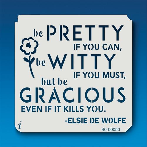 40-00050 Be Pretty Stencil