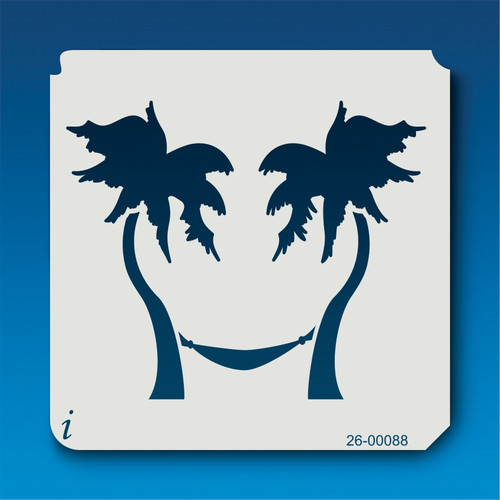 26-00088 Palm Trees and Hammock Stencil