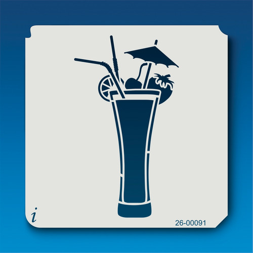 26-00091 Tropical Drink Stencil