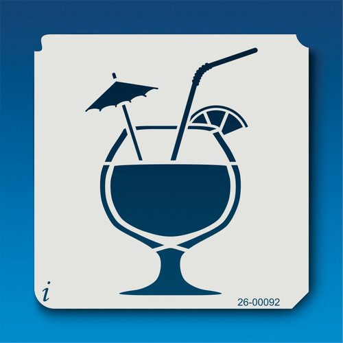26-00092 Tropical Drink 2 Stencil
