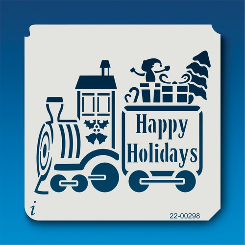 22-00298 Holiday Train Stencil