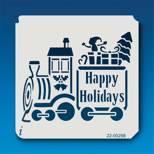 22-00298 Holiday Train Stencil