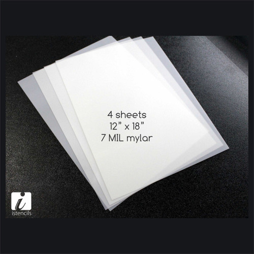 "blank mylar stencil sheets 12"" x 18"" (4 sheets)"
