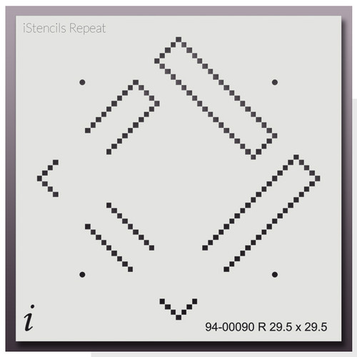 "94-00090 R Cuckoo Squares 29.5"" Large Stencil"