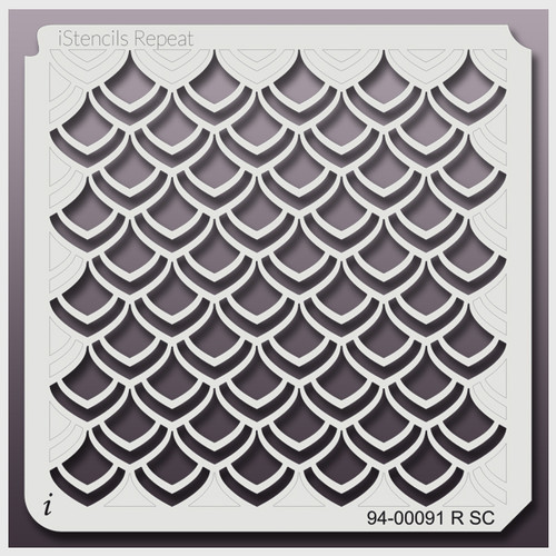 94-00091 RSC dragon scales stencil