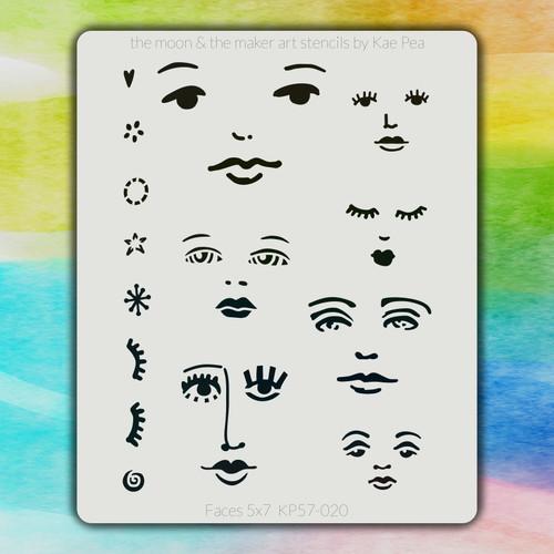 5x7 KP-020 faces stencil