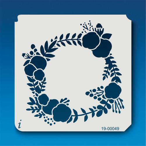 19-00049 Floral Wreath Stencil