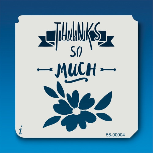 56-00004 Thank You Much Stencil