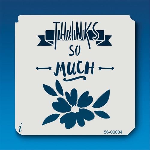 56-00004 Thank You Much Stencil
