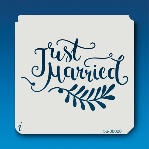 56-00006 Just Married Stencil