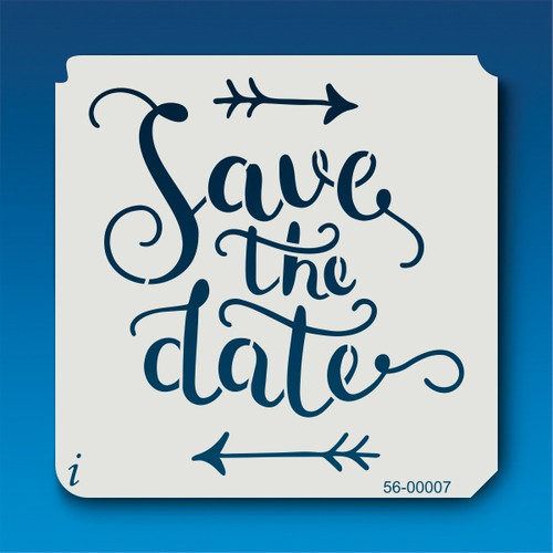 56-00007 Save the Date Arrow Stencil