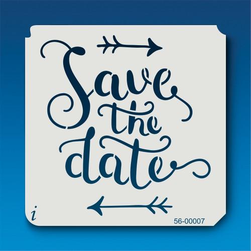 56-00007 Save the Date Arrow Stencil