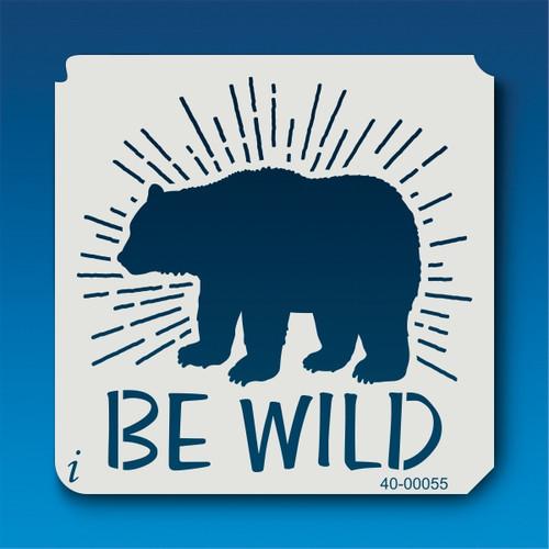 40-00055 Be Wild Stencil