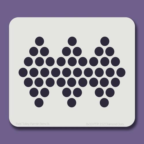 8x10 PTP-152 diamond dots stencil