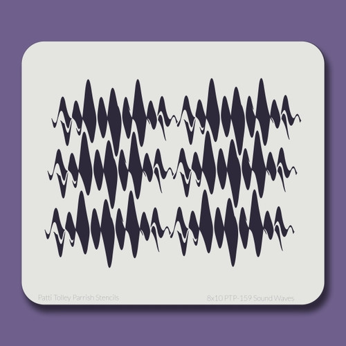 8x10 PTP-159 sound waves stencil