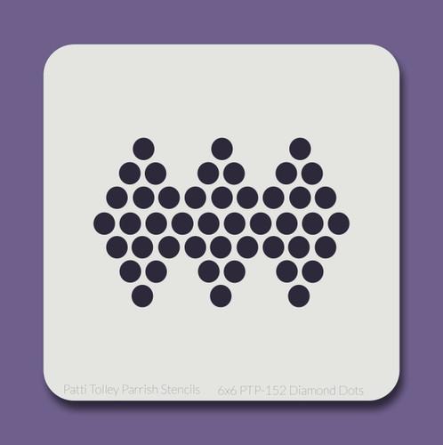 6x6 PTP-152 diamond dots stencil