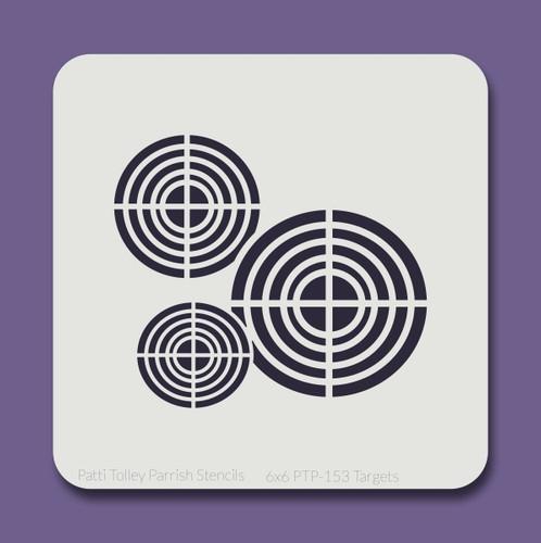 6x6 PTP-153 targets stencil