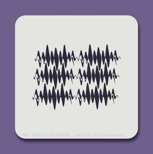 6x6 PTP-159 sound waves stencil