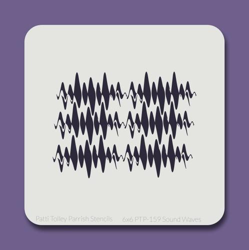 6x6 PTP-159 sound waves stencil