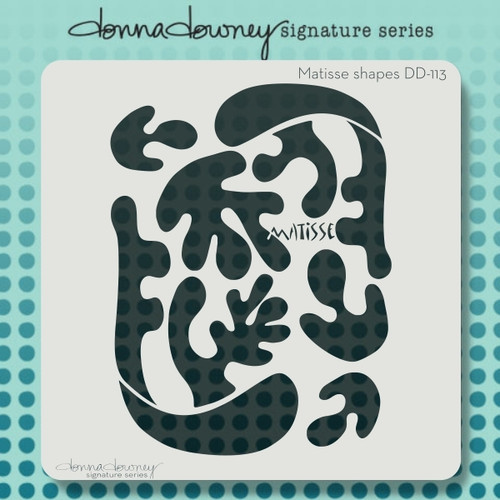 DD-113 Matisse shapes stencil