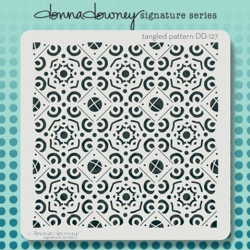 DD-127 tangled pattern stencil