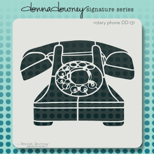 DD-131 rotary phone stencil