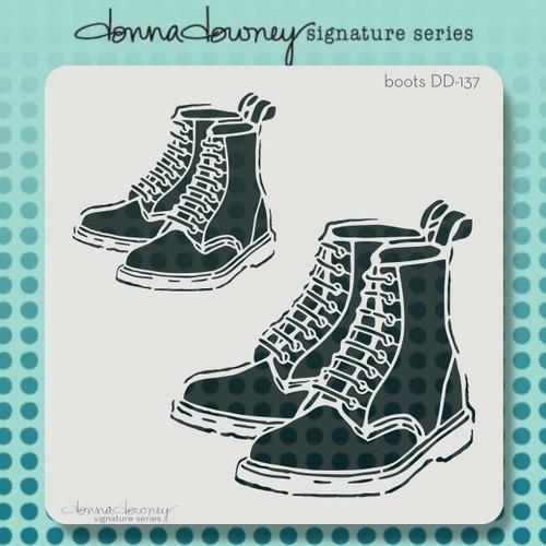 DD-137 boots stencil