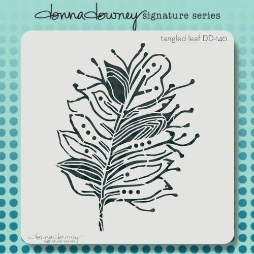DD-140 tangled leaf stencil